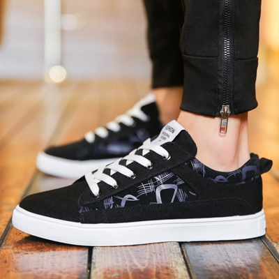 568b02ce53 Winter Korean male shoes students hundred canvas shoes male trend board  shoe casual shoes shoes boy