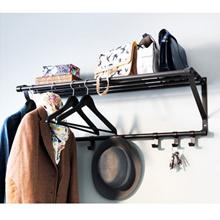 IKEA ikea PORTIS / Rak topi / Perancang Sepatu Cantik Rack Storage Black Solid Steel 90cm