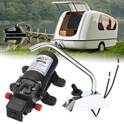 DC 12V Electric High Pressure Diaphragm Water Pump Faucet Kit For Caravan Boat