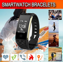 ★2017 New Arrival Smart Bracelets★Blood Pressure/Heart Rate/Monitor Sport Activity Watch/Clock