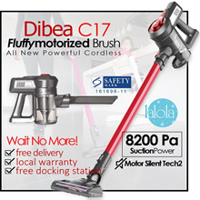 Dibea C-17 Cordless Vacuum Cleaner 2 in One/ Silent and Powerful. READY STOCKS IN SG!