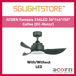 SgLightStore - Acorn Fantasia DC356 - 36/46/56 Inch (Coffee Brown)