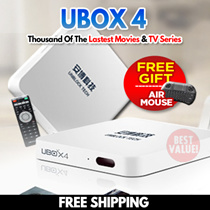 [FREE SHIPPING] NEW UNBLOCK Tech TV BOX UBOX 4  Bluetooth Version Free Air Mouse