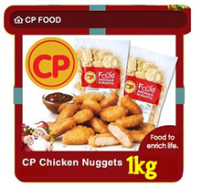 [CP] Chicken Nugget 1Kg Bulk Pack. Approx 42 pcs. Halal (Frozen)