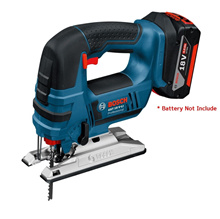 Bosch GST 18V-Li Cordless Jigsaw (BARE TOOL ONLY). Compact and comfortable to use. SDS system enable easy changing of saw blades. Led light and adjustable footplate for swivel cutting.