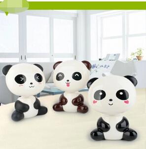Lampu Panda kartun mata LED lampu baca isi ulang