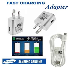 ORIGINAL Samsung Galaxy NOTE 4 / 5. Galaxy S6/S7 / S6/S7 Edge (U.K.)3 Pin Wall Charger Adapter Type. ADAPTIVE FAST CHARGER + 1. Data Cable Package