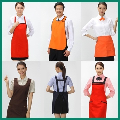 Serving Aprons Restaurant Waitress Uniforms House Home Kitchen Chef Works Aprons For Guests