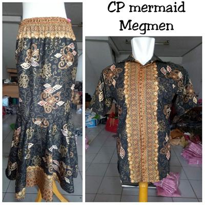 Sb Collection Couple Rok Maxi Joan Panjang Duyung And Men S Batik Shirt