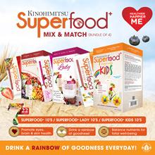 Mix n Match SUPERFOOD SERIES Bundle of 4 (Superfood 10s/Superfood Lady 10s/Superfood Kids 10s)