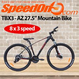 "TBX3 - AZ 27.5"" Mountain Bike / Aluminium / Gears: 8 x 3 speeds / Tyres: Kenda"