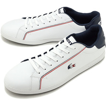 【Japanese Genuine】 Lacoste LACOSTE Mens Graduation MNS GRADUATE 119 3 SMA WHT / NVY / RED White system [SMA0022-407 SS19]