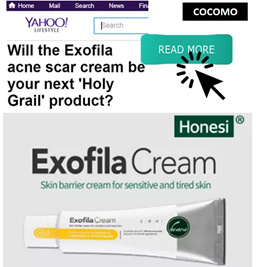 ❤ APPLY 20% OFF = 2 FOR $65 + FREE GIFTS ❤ Honesi Exofila Cream 50ml   Reduces appearance of scars