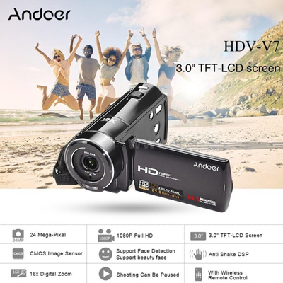 Andoer 1080P Full HD Digital Video Camera 24MP 16 Zoom 3.0