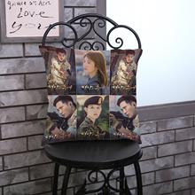 Descendants of the new Korean drama Song Zhongji printed cotton pillow cushion cover custom factory