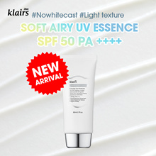 NEW) Klairs Soft Airy UV Essence 50 PA ++++ no white cast light weight