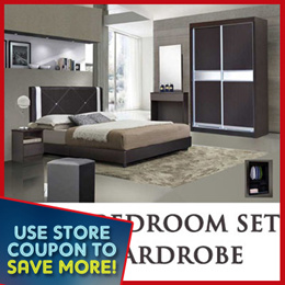 [USE STORE + QOO10 COUPON] Modern 5pcs Bedroom Set Deal   Add on Mattress Promotion Deals  