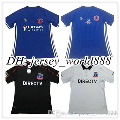 f245d884b Top Thai quality 2017 Universidad de Chile Home soccer jersey 17 18 Chile  University Chile Club