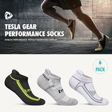 Tesla Sports Socks / 6 Pairs In 1 Pack / Performance sports socks / Hiking / Running / Gym / Fitness