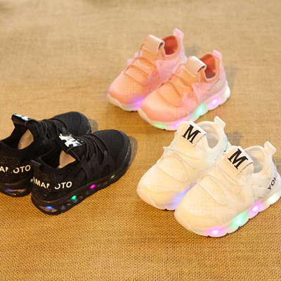 wholesale New brand hot sales cool fashion children shoes high quality  colorful lighting kids sneake