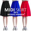 [JUMBO] KOREA STYLE ★ MIDI WEDGES Spandex Flare SKIRT/ big size