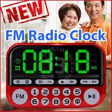 LOCAL WARRANTY ★ Large LCD Display Multi Function Portable Mini FM Radio Alarm Clock MP3 TF Card