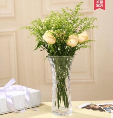 Qoo10 Thick Transparent Large Glass Vase Lucky Bamboo Flower Arrangement Sim Furniture Deco