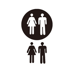 Removable 3D Mirror Public Toilet Restroom Sign Men Women Wall Art Stickers for Bar School