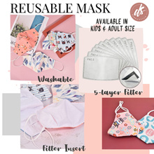 [RESTOCKED] Kids Children Adult Reusable Face Mask Filter Surgical Washable Masks | Waterpoof