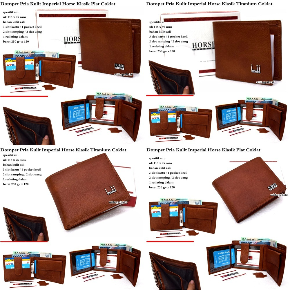 Dompet Pria Kulit Semi Panjang Imperial Horse · Dompet . Source · fit to viewer. prev next. wallet of classic dark brown imperial leather man