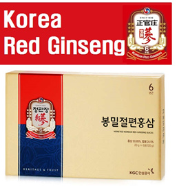 Korea Premium Red Ginseng honeyed sliced 20g x 6 Packs/ Real Red Ginseng/ Hongsam Slice/Parents gift