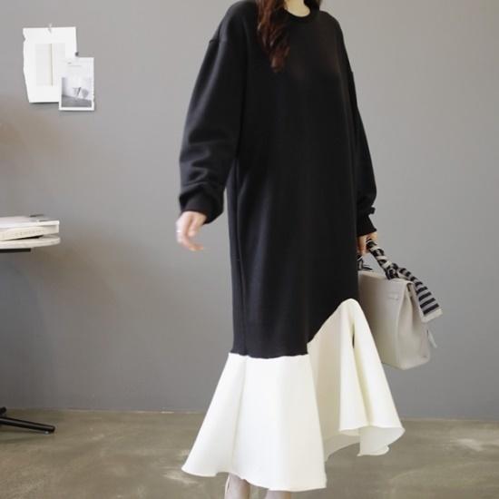 ロロテンマーティーレースOPS 綿ワンピース/ 韓国ファッション