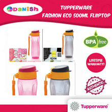 Authentic  Tupperware Aquasafe Eco Fliptop Water Bottle 500ml *BPA Free*School Cycle Sports Birthday