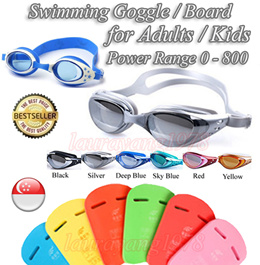 Swimming Goggle Glasses for Prescription Myopia Eyes/Normal Vision★Swimming Board /Float Kids Adults