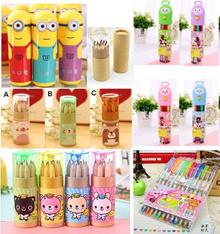 12pcs colour pencils/12pcs colour water pen / Stationery Set/Goodies Bag. Birthday Gift