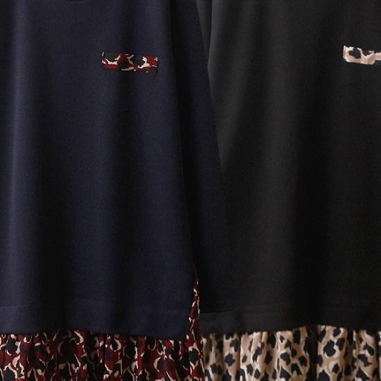 ウィスィモールIW・ベービー配色ワンピースOL1709 綿ワンピース/ 韓国ファッション