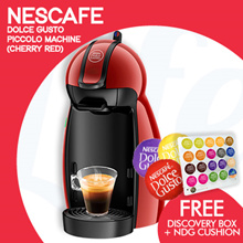 [NESCAFE] 【FREE CAPSULES DISCOVERY BOX WORTH $39.90】 PICCOLO DOLCE GUSTO® IN NEW COLOUR- CHERRY RED