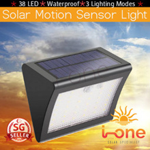 38 LED Solar Light PIR Motion Sensor Light Garden Outdoor Pathway Solar Wall Light
