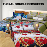 Floral Double Bedsheets