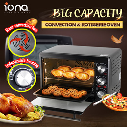 IONA 18L/ 28L Electric Convection and Rotisserie Oven | Big Capacity | GL1803 | GL2801 with 2 trays