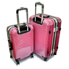 2-In-1 Ultralight Stripe Rolling Spinner 4 Wheel Luggage Set (20 Inch+24 Inch)