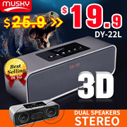 ◎ BEST SELLER!◎Musky HIFI DY22L Bluetooth Speaker◎Dual Speakers High-Power soundbar
