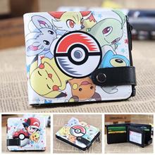 Pokemon ball cards wallet pikachu men s wallets Naruto Tokyo Ghou kids cion purse zipper hasp