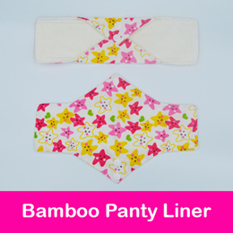 Bamboo Panty Liner/ Sanitary Pad/ Reusable/ Washable/ Wings/ Light Flow/ Bladder leak
