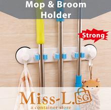 Mop Broom  Holder/Suction Hook /Wall Mount Rack with Hook/ Toilet Roll /garage organization