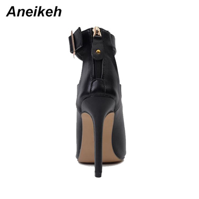 61dae6855c2 store Aneikeh Gladiator Women Pumps Ladies Sexy Buckle Strap Roman High  Heels Open Toe Sandals Party