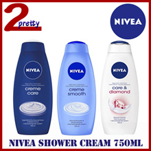 NIVEA Shower Cream 750ml - Cashmere/Care/Relax/Creme Soft/Diamond Touch/Smooth Velvety