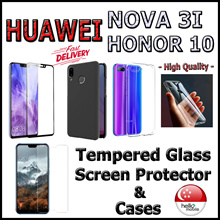 ✪Huawei Nova 3i / Honor 10✪ Tempered Glass Screen Protector / Case ★High Quality★ - Local SG Seller