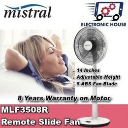 ★ Mistral MLF3508R 14 Inch Slide Fan with Remote Control ★ (8 Years Warranty for Fan Motor Only)