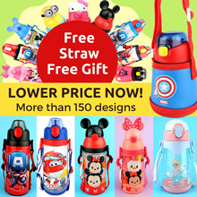 ★ School Kids Water Bottle Thermos BPA-free Disney/Marvel/Avengers/Super Wings/Minions/Hello Kitty